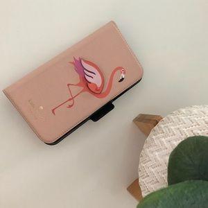 Pink Flamingo Kate Spade IPhone X Case